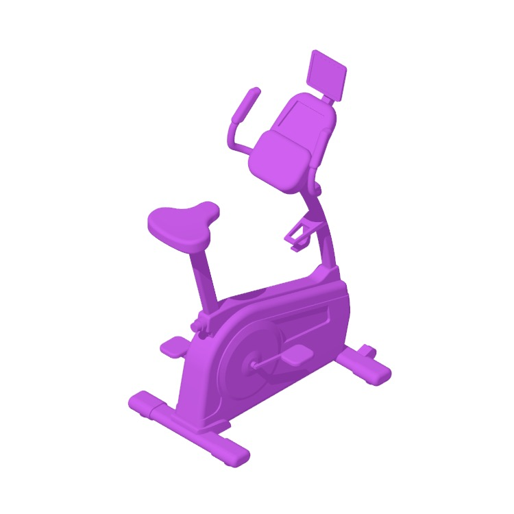 Perspective view of a 3D model of the NordicTrack Commercial VU 19 Upright Stationary Bike