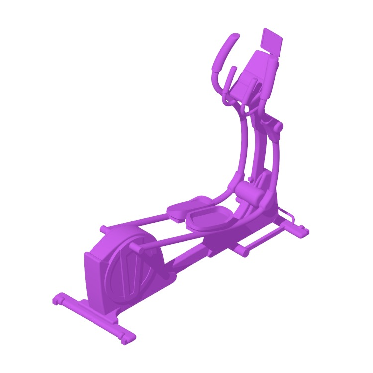 3D model of the NordicTrack SpaceSaver SE7i Rear Drive Elliptical viewed in perspective