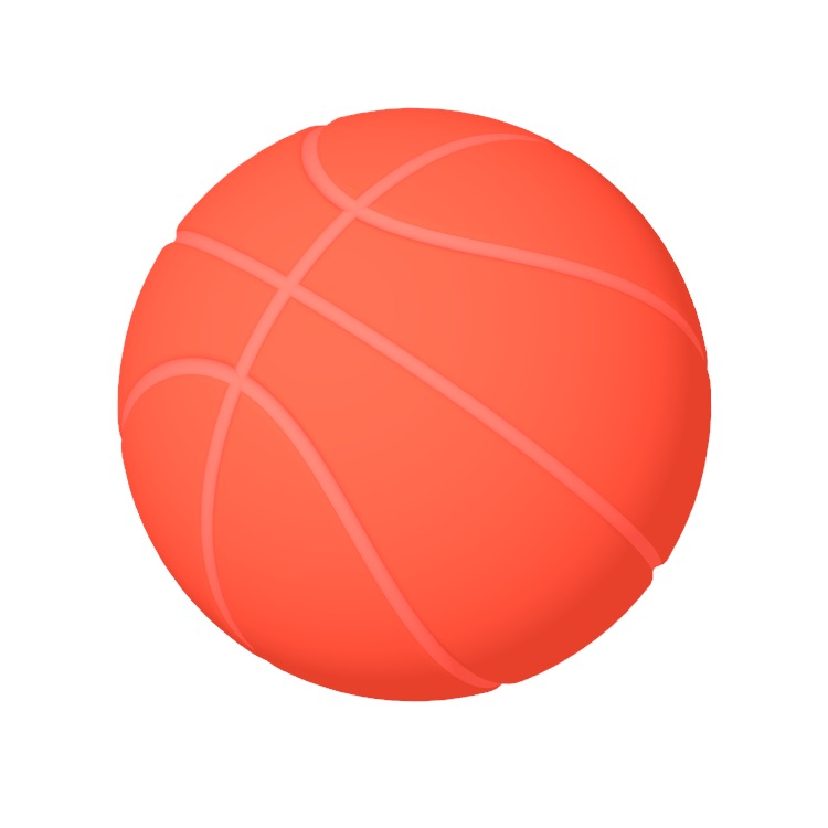 Perspective view of a 3D model of the Basketball