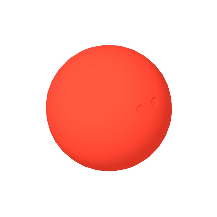 3D model of a Squash Ball viewed in perspective
