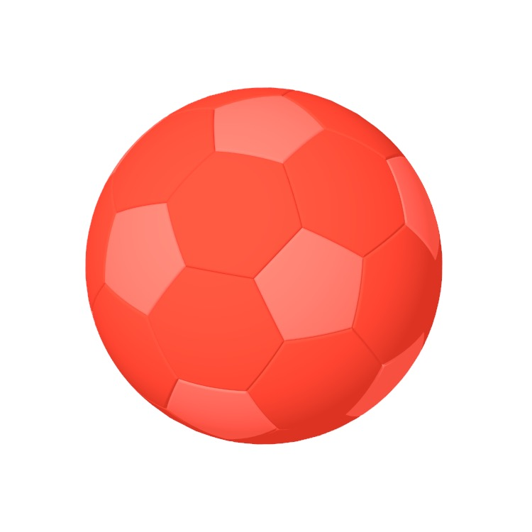 View of a Size 5 Soccer Ball (Football) in 3D available for download
