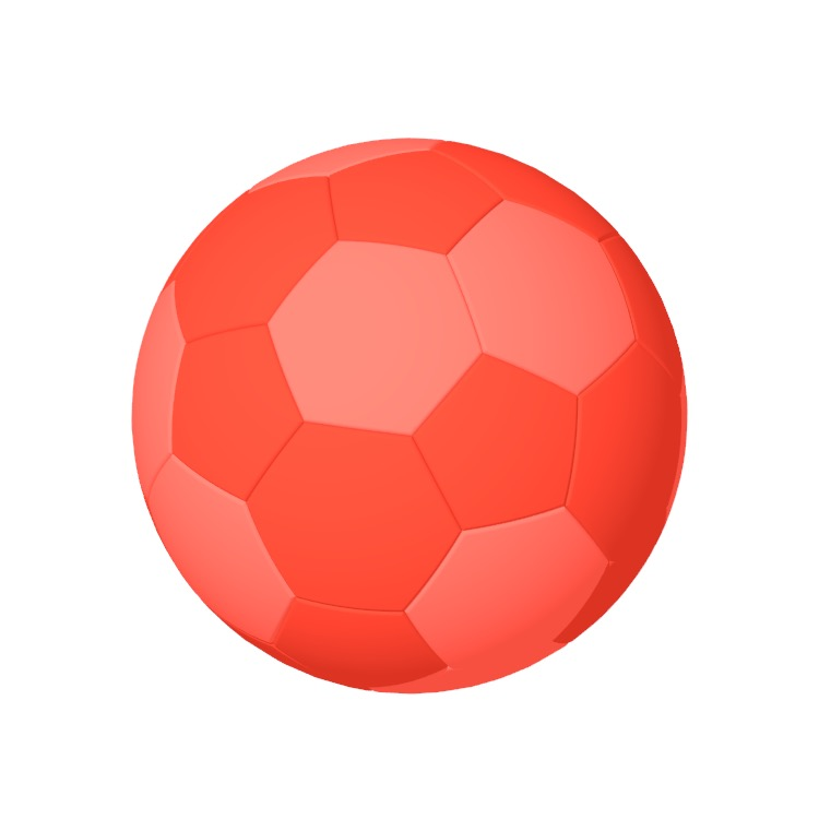 3D model of a Handball - Size III viewed in perspective