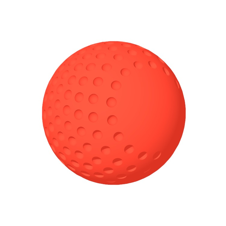 View of a Field Hockey Ball in 3D available for download