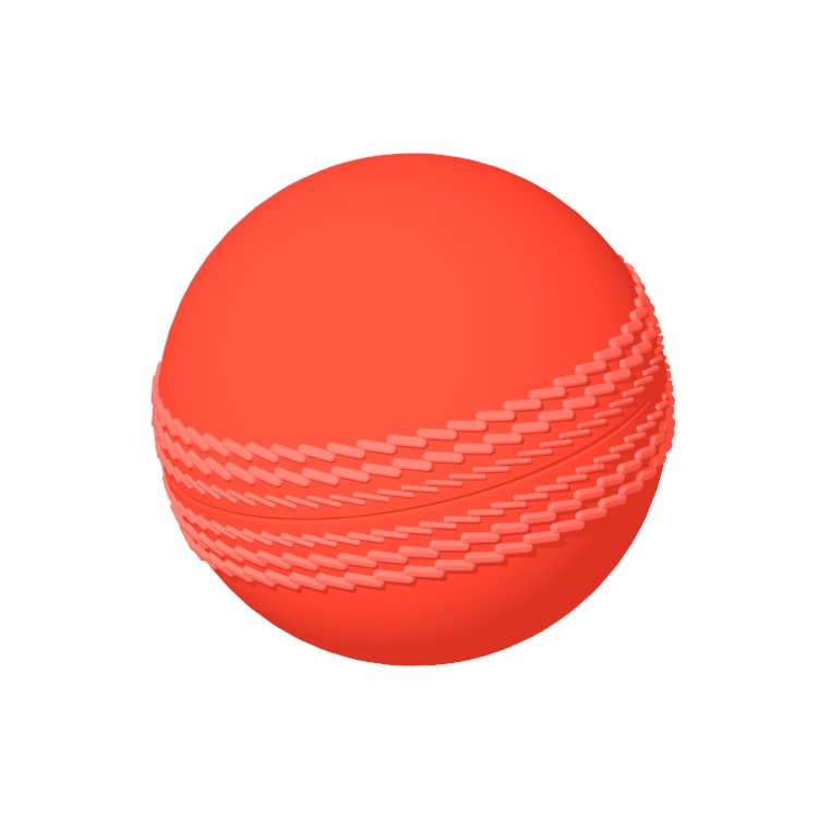 View of a Cricket Ball in 3D available for download