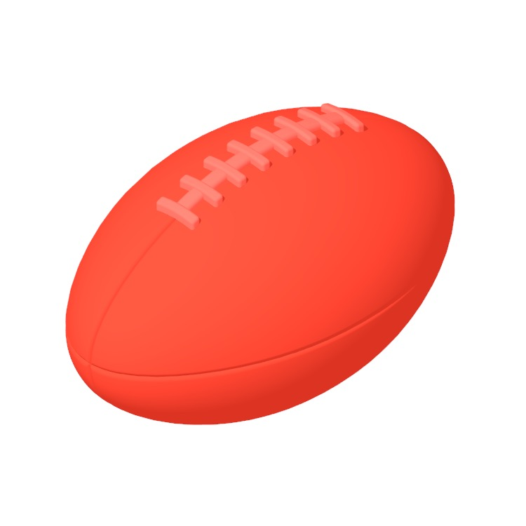 View of a American Football in 3D available for download