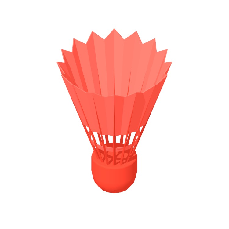 View of a Badminton Shuttlecock in 3D available for download