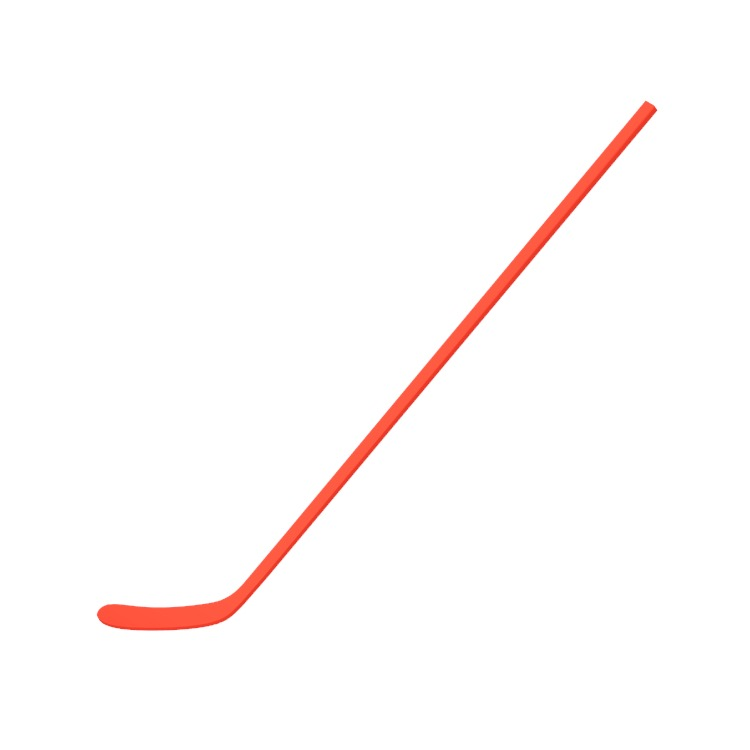 Perspective view of a 3D model of a Ice Hockey Stick