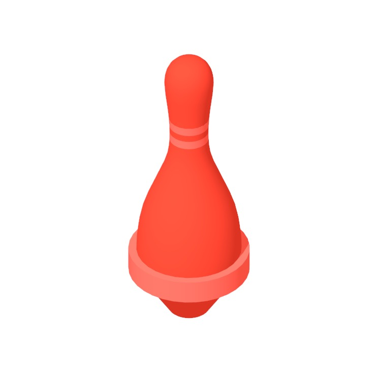 View of a Five-Pin Bowling Pin in 3D available for download
