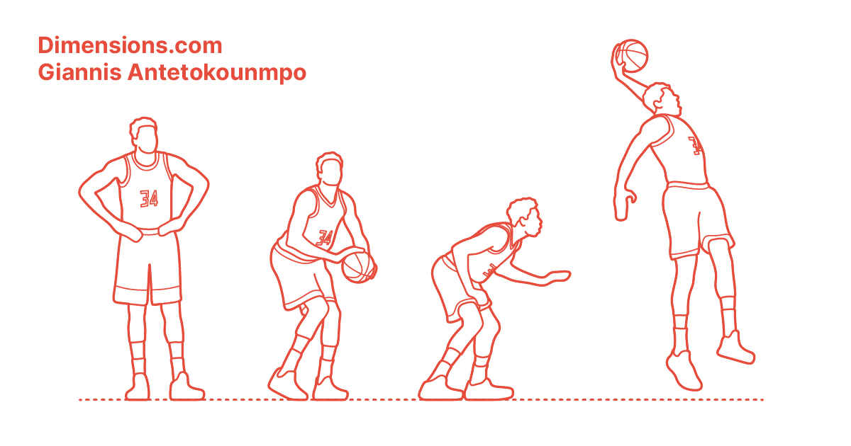 Giannis Antetokounmpo Dimensions Drawings Dimensions Com