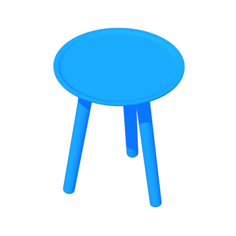 View of the Edge Side Table in 3D available for download