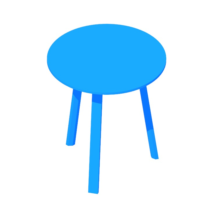 3D model of the Bella Side Table viewed in perspective