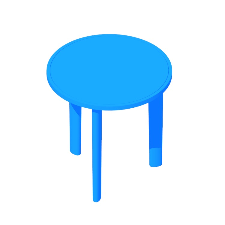 View of the Port Side Table in 3D available for download