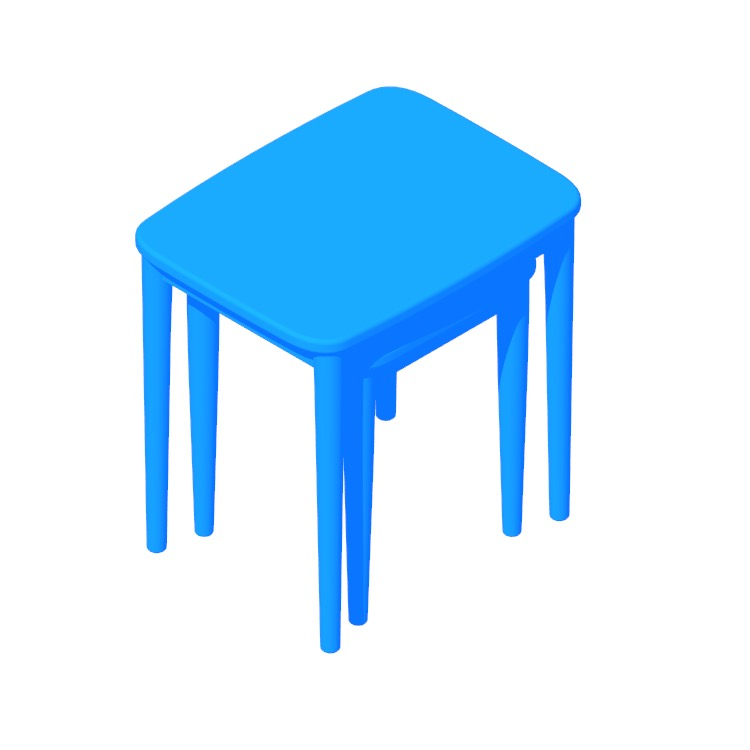 View of the Skagen Nesting Tables in 3D available for download
