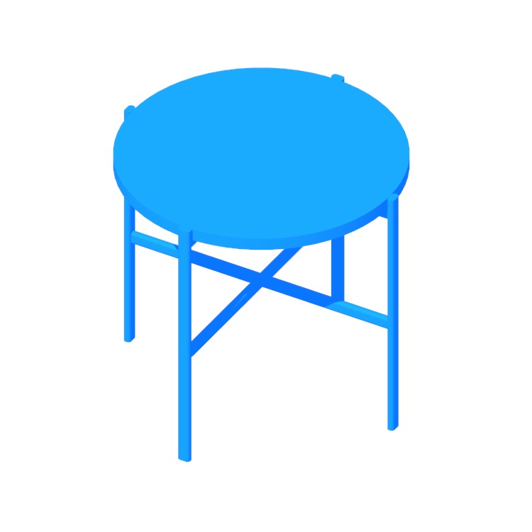 Perspective view of a 3D model of the Sylvain Outline Side Table