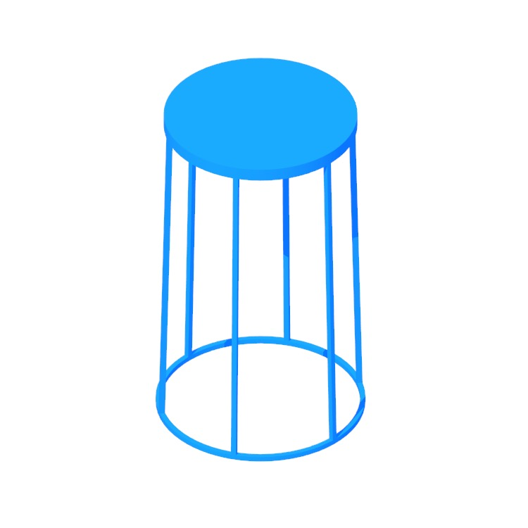 View of the Marble Wire Table (Medium) in 3D available for download
