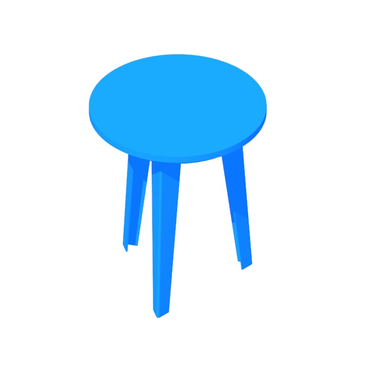 3D model of the Floyd Side Table viewed in perspective