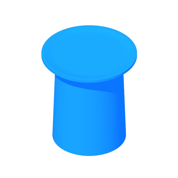 View of the Coco Side Table (Low) in 3D available for download