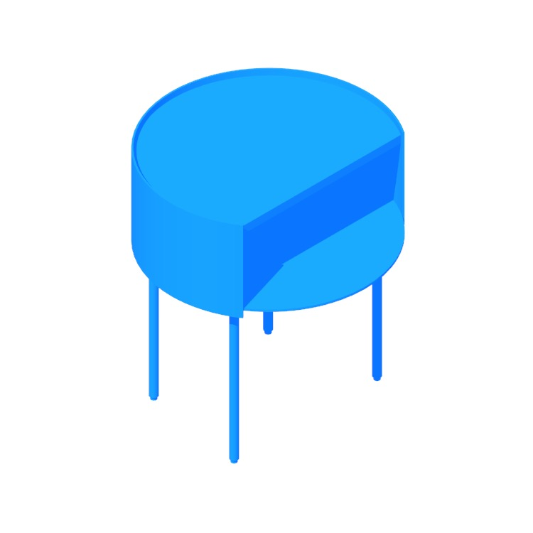3D model of the Li'l Something Side Table viewed in perspective