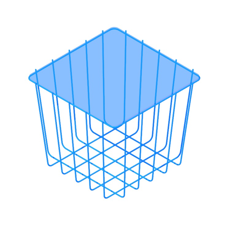 Perspective view of a 3D model of the Scamp Table (Medium)