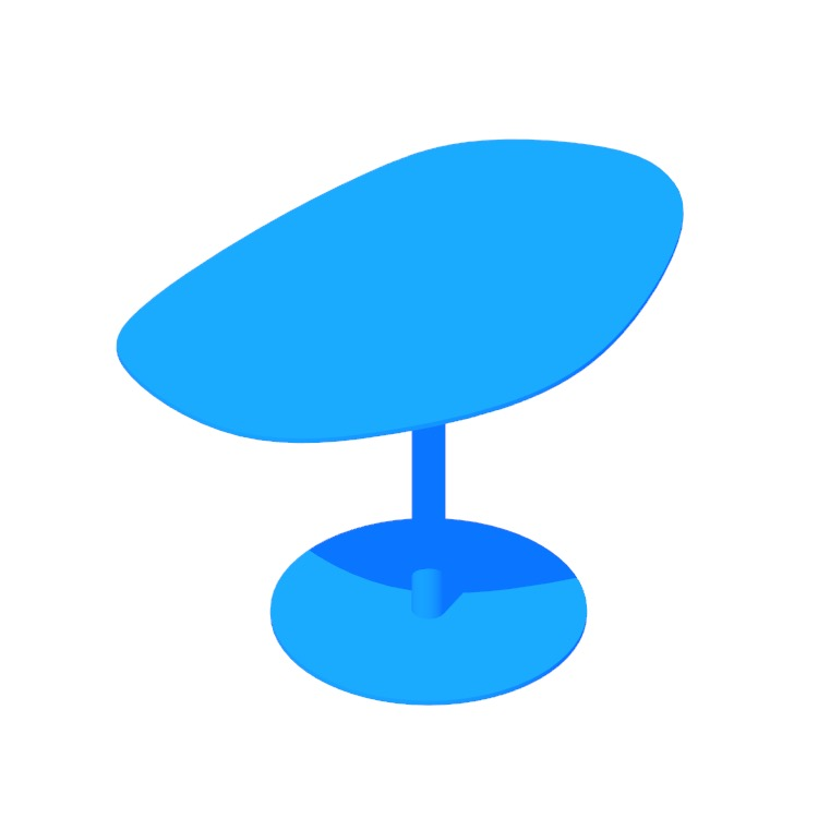 Perspective view of a 3D model of the Swole Table (Medium)