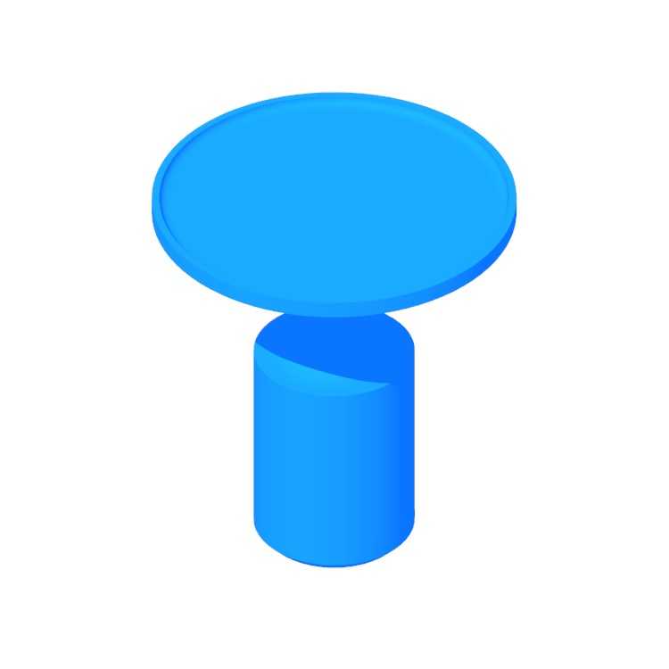 View of the Turn Side Table (Tall) in 3D available for download