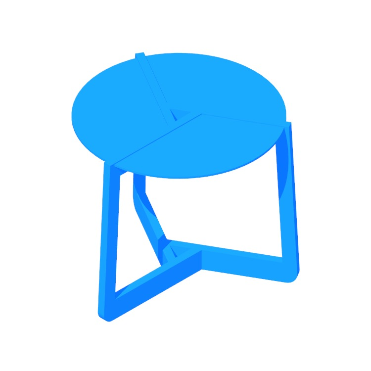 3D model of the Pi Side Table (Small) viewed in perspective