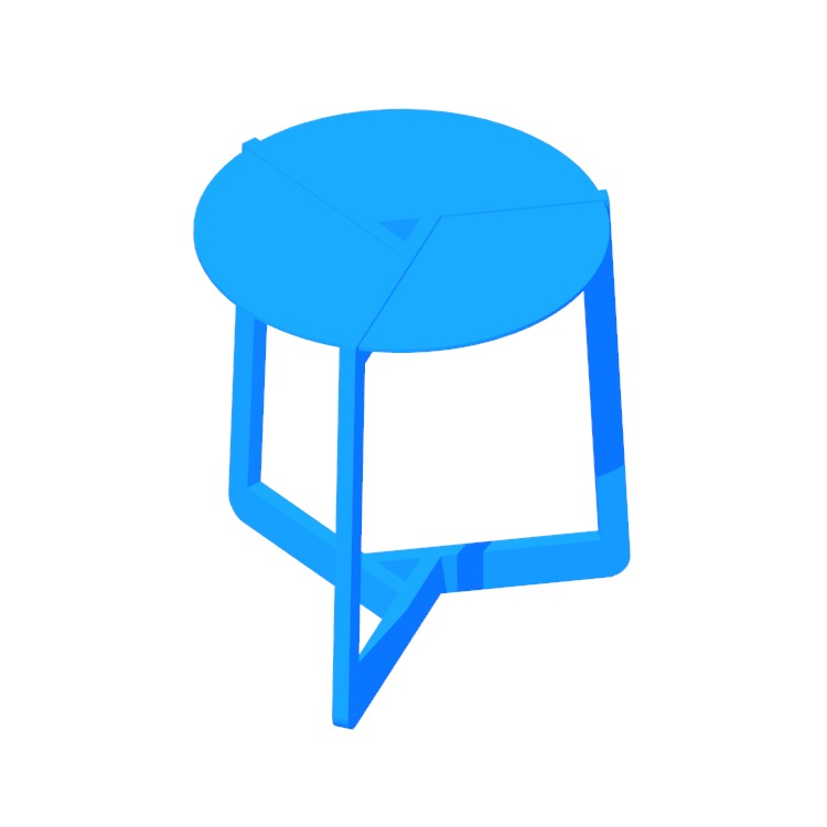 View of the Pi Side Table (Large) in 3D available for download