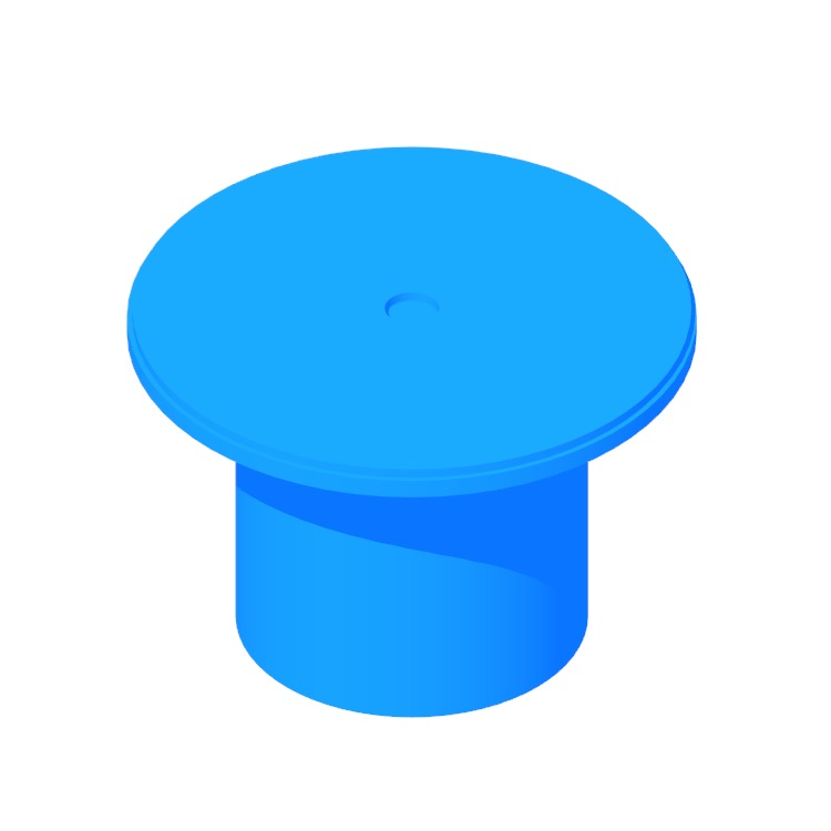 Perspective view of a 3D model of the Plateau Table (Medium)