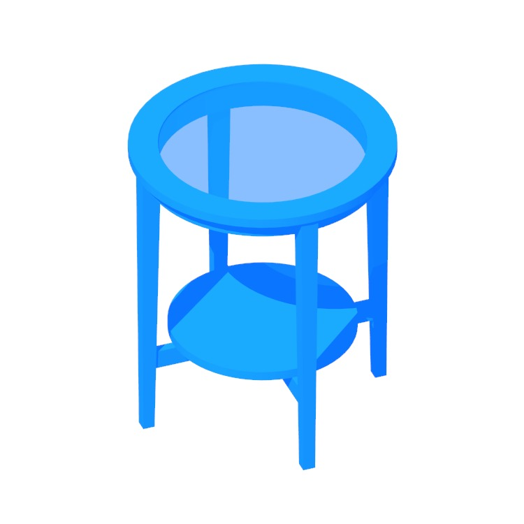 Perspective view of a 3D model of the IKEA Malmsta Side Table