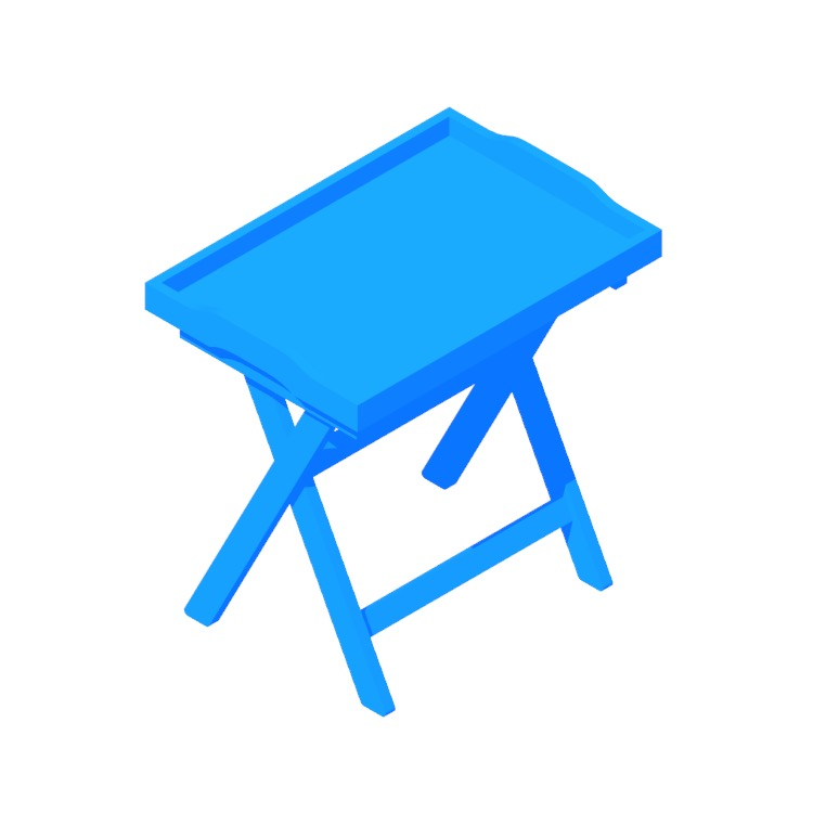 View of the IKEA Maryd Tray Table in 3D available for download