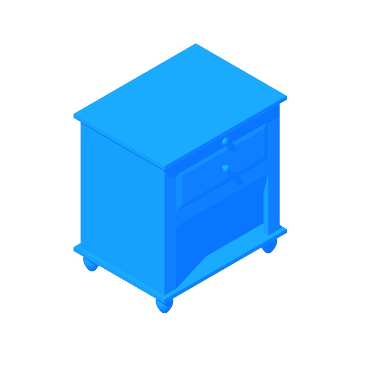 3D model of the IKEA Hornsund Nightstand viewed in perspective