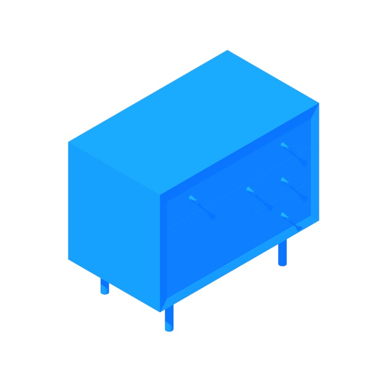 3D model of the Cama Nightstand viewed in perspective