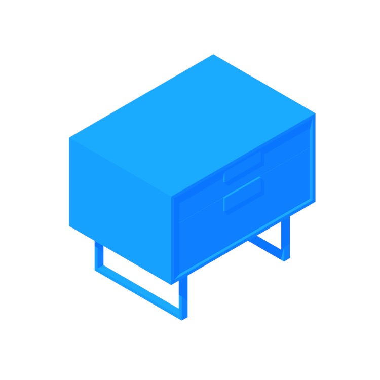 3D model of the Series 11 Nightstand viewed in perspective