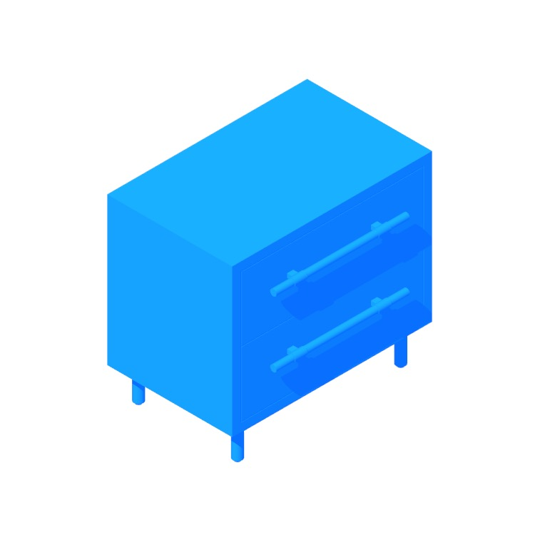 View of the Oberlin Nightstand in 3D available for download