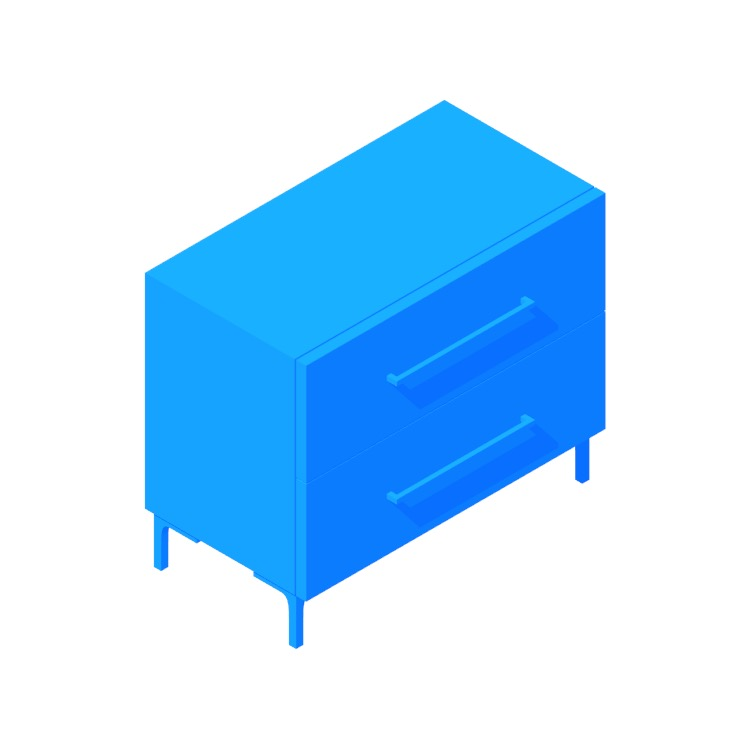 Perspective view of a 3D model of the Link Nightstand