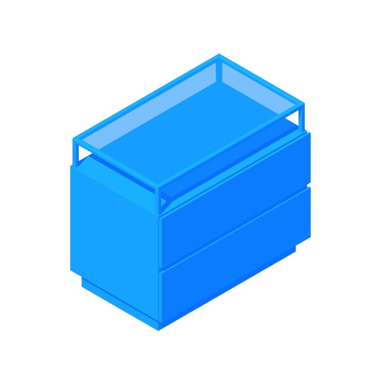 3D model of the Lawson Nightstand viewed in perspective