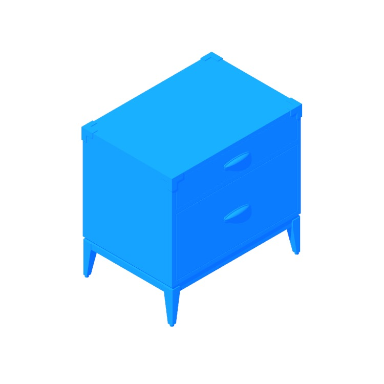 3D model of the Fenton Nightstand viewed in perspective