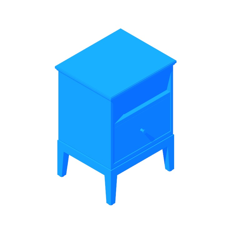 View of the IKEA Idanäs Nightstand in 3D available for download