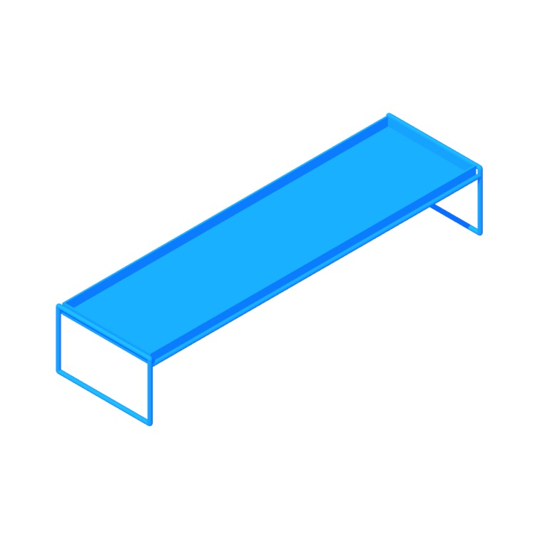 3D model of the Trays Table (Rectangular) viewed in perspective