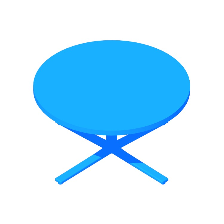 Perspective view of a 3D model of the Everywhere Coffee Table (Round)