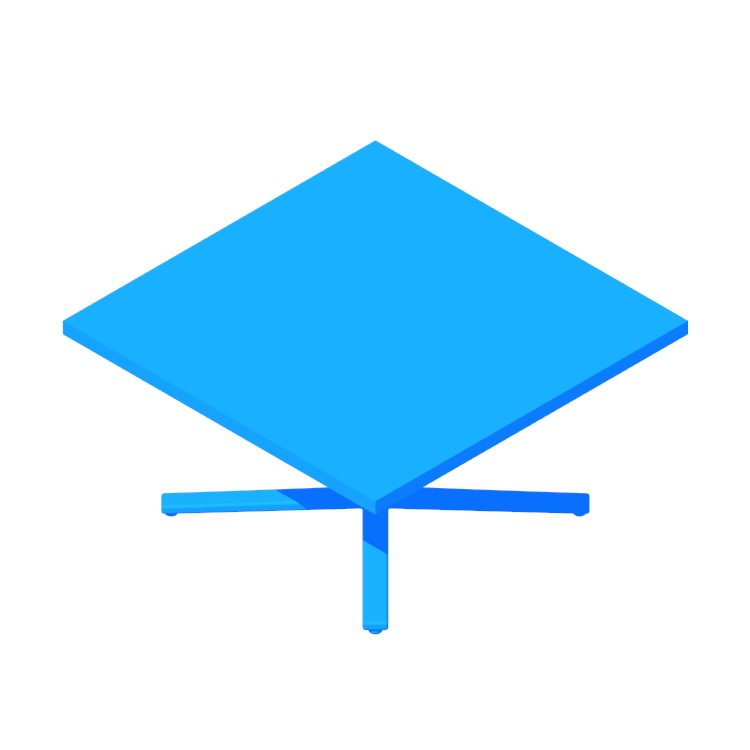3D model of the Everywhere Coffee Table (Square) viewed in perspective