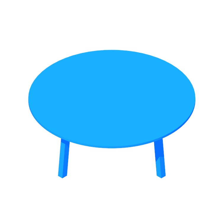 3D model of the Floyd Coffee Table (Round) viewed in perspective