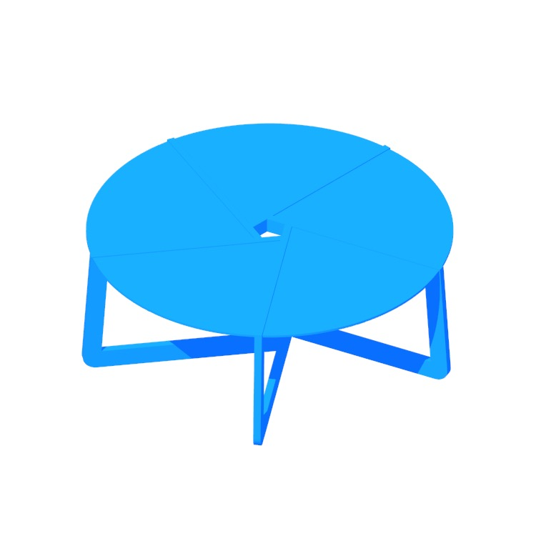 3D model of the Pi Coffee Table viewed in perspective