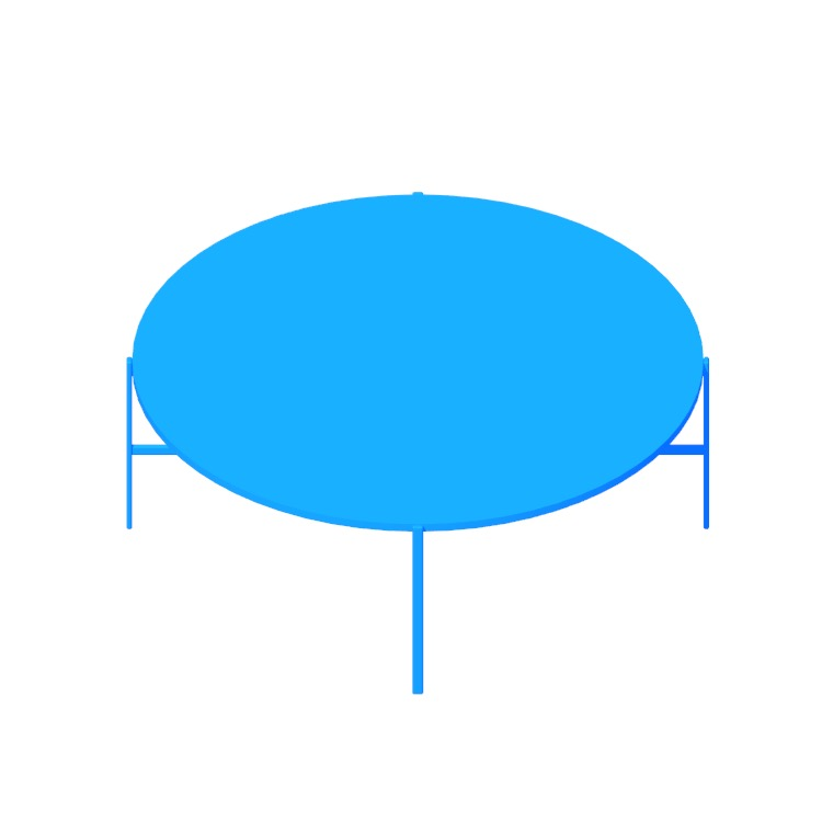 View of the Sylvain Outline Coffee Table (Round) in 3D available for download
