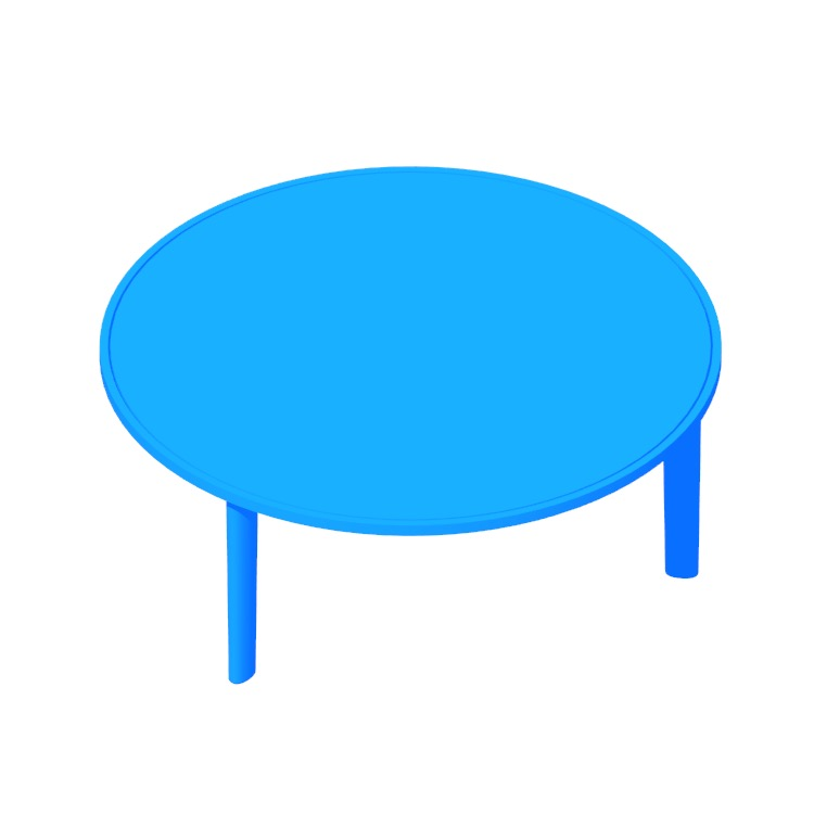 View of the Port Coffee Table in 3D available for download