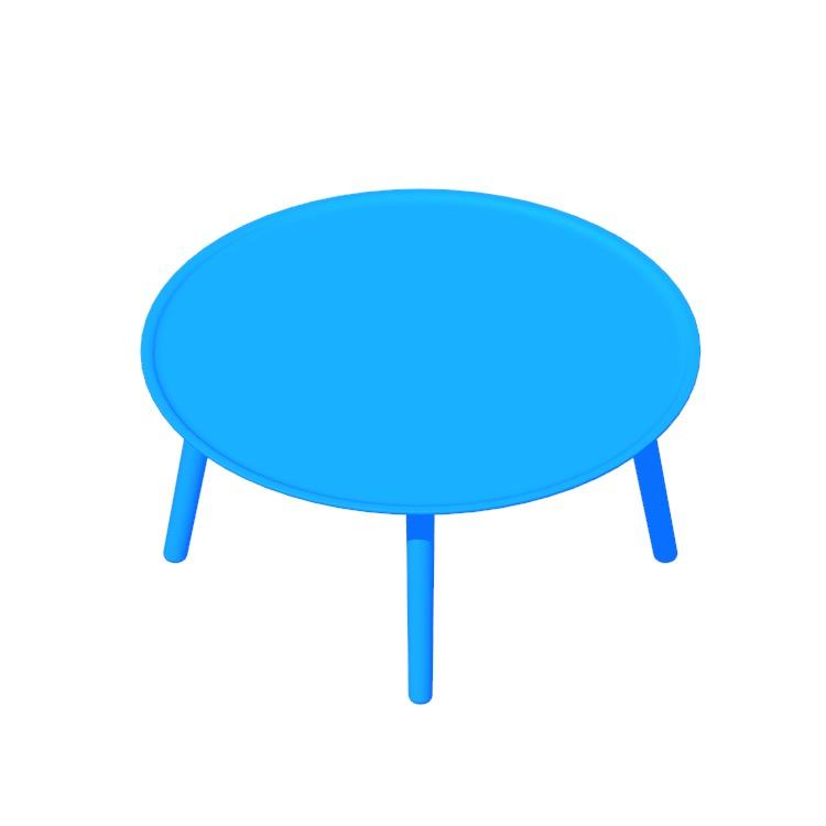 Perspective view of a 3D model of the Edge Coffee Table