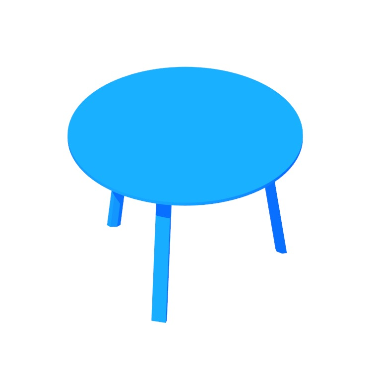 3D model of the Bella Coffee Table viewed in perspective