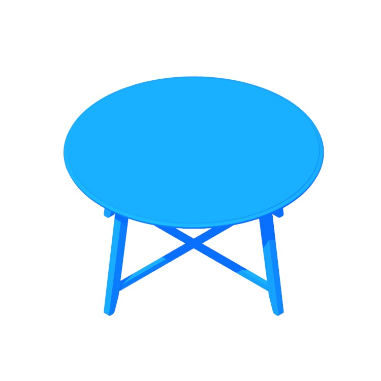 View of the IKEA Kragsta Coffee Table in 3D available for download