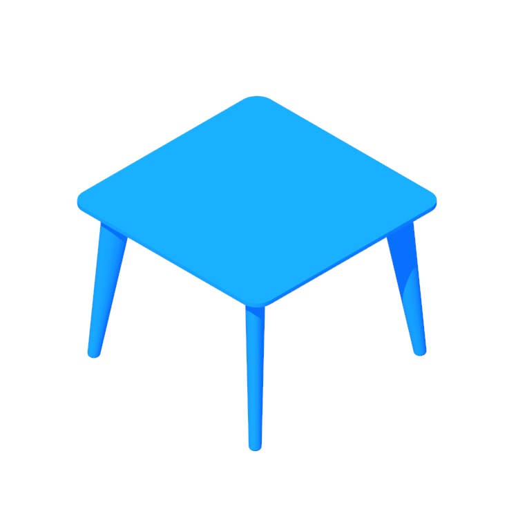 View of the IKEA Lisabo Coffee Table (Square) in 3D available for download