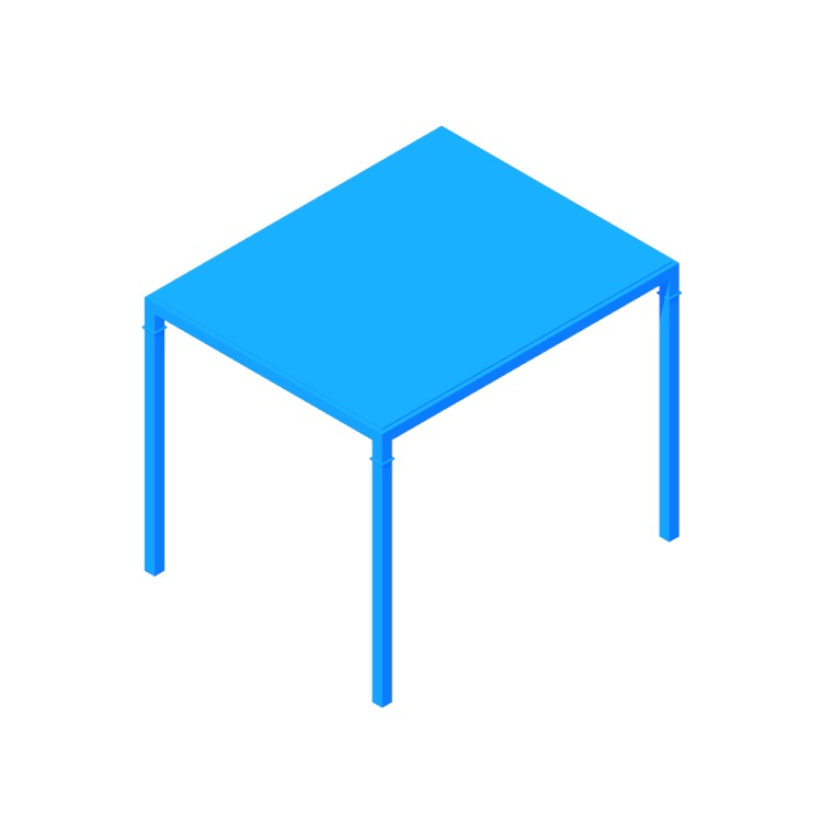 View of the IKEA Nyboda Coffee Table (Medium) in 3D available for download